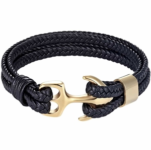 Anchor armband Golden Sailor svart