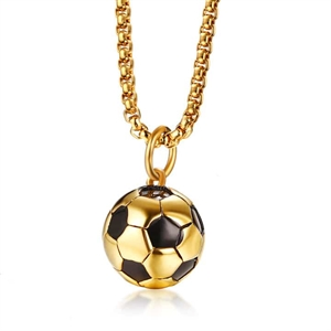 "Halsband ""Golden Football"" Rostfritt stål."