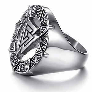 Nordisk tecken mens ring viking