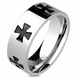 Mens Ring med Celtic Cross design.