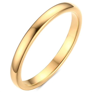 Tunn golden tungstenring