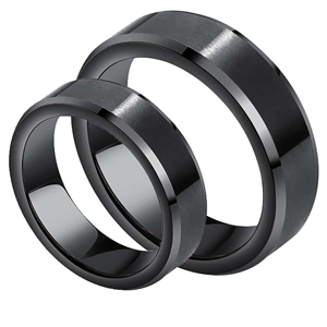 Svart Kope Engagement Ring Tungsten