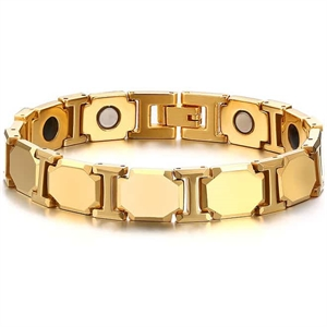 Golden Tungsten Carbide Armband / Magnet