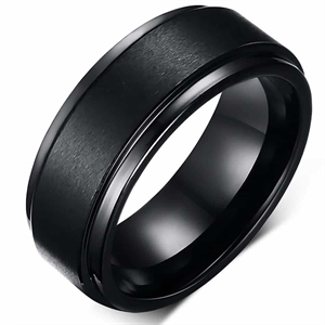 Panther tungsten ring mat svart
