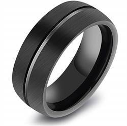Tungsten ring svart